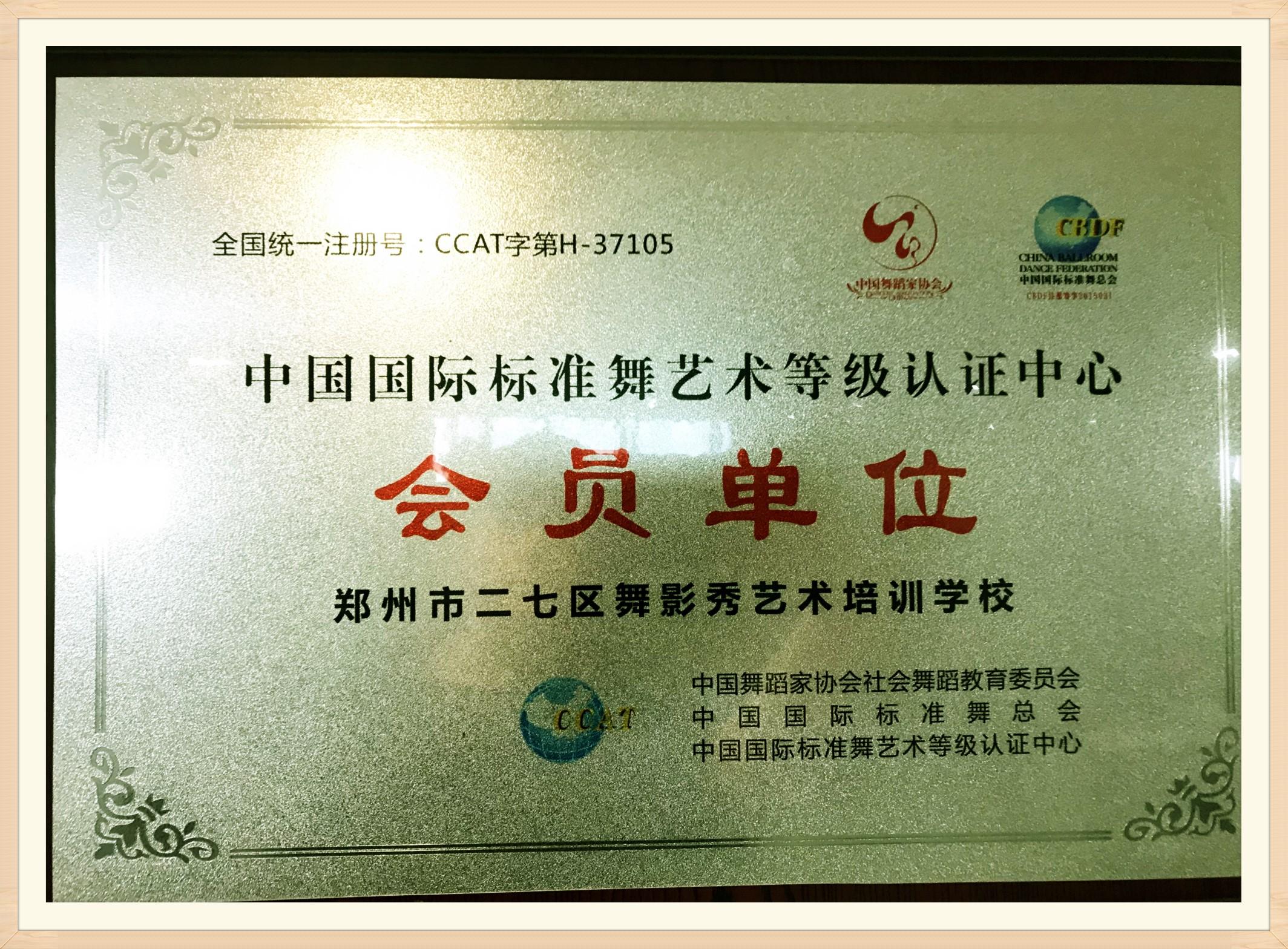 中国国际标准舞协会考级会员单位